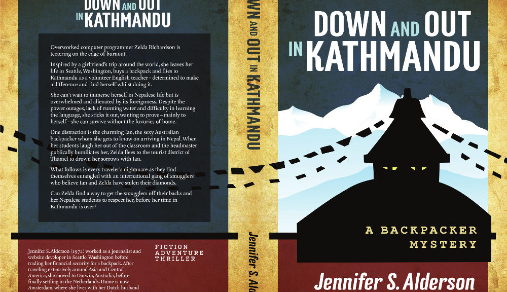 Down and Out in Kathmandu A Backpacker Mystery travel fiction thriller suspense novel smuggling diamonds volunteer book