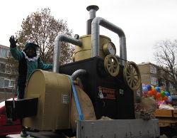 Pepernootjes machine Sinterklaas