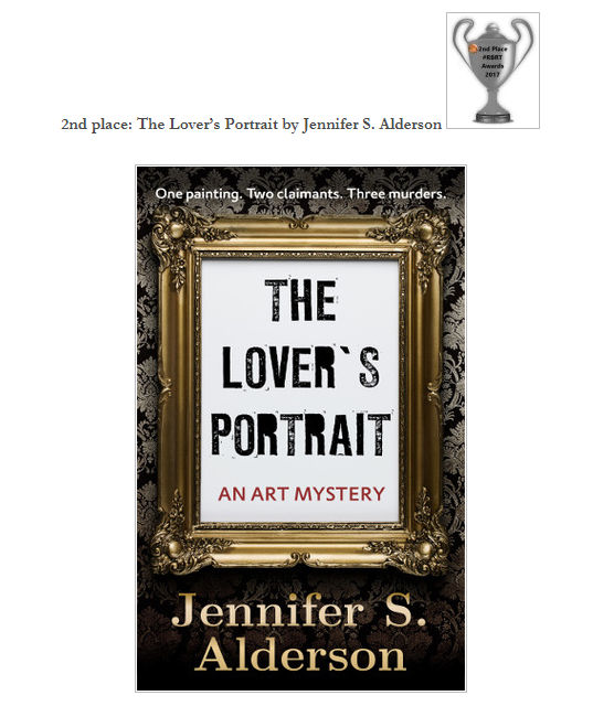 The Lover's Portrait An Art Mystery Second Place RBRT 2017 Awards Rosie's Book Review Team Silver Cup