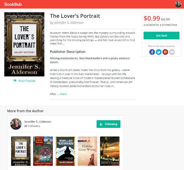Jennifer S Alderson bestseller The Lover's Portrait art mystery amateur sleuth historical fiction art crime thriller