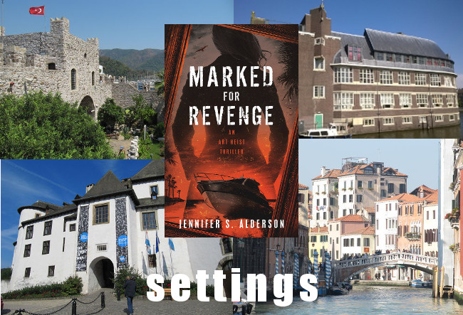 Jennifer S Alderson Marked for Revenge an art heist thriller amateur sleuth art crime art theft