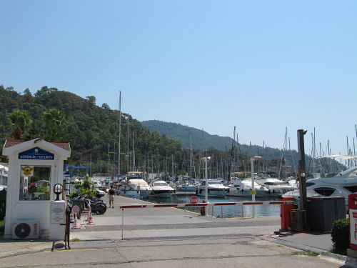 Nestel Marina in Marmaris, Turkey. Unfortunately for Zelda, it is well guarded.