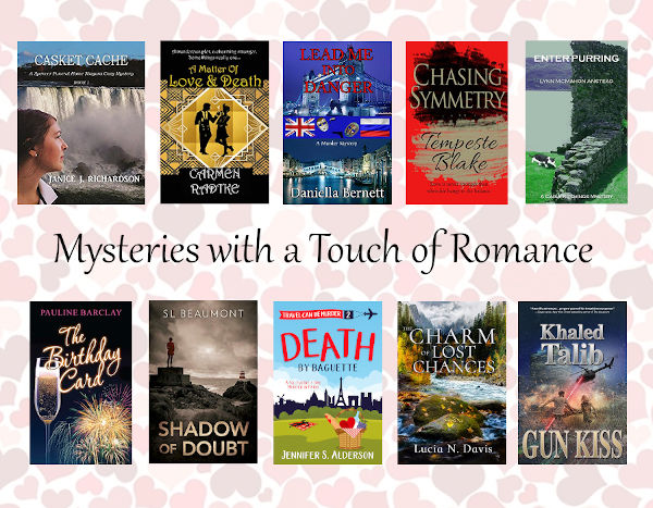 Mysteries, cozies, and thrillers with a touch of romance