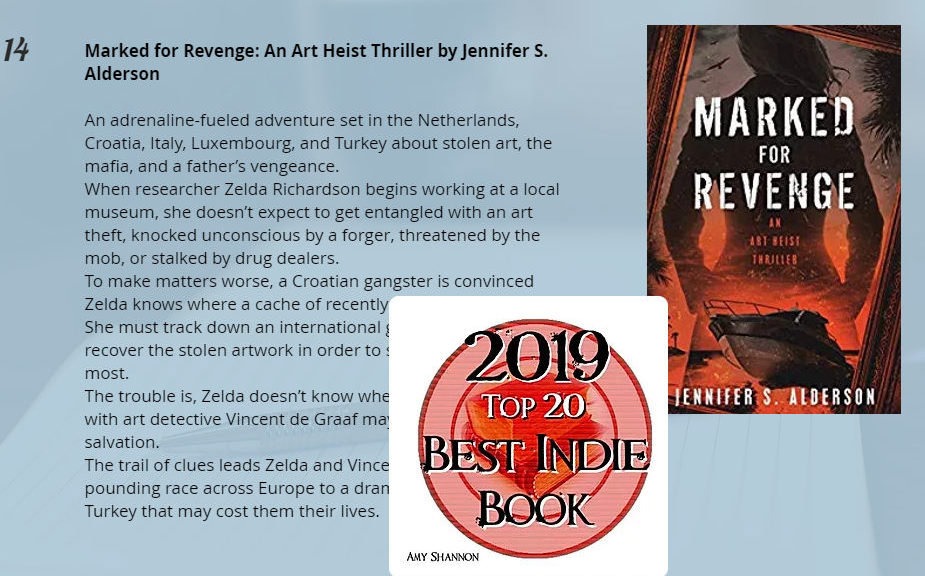 Marked for Revenge An Art Heist Thriller wins awards